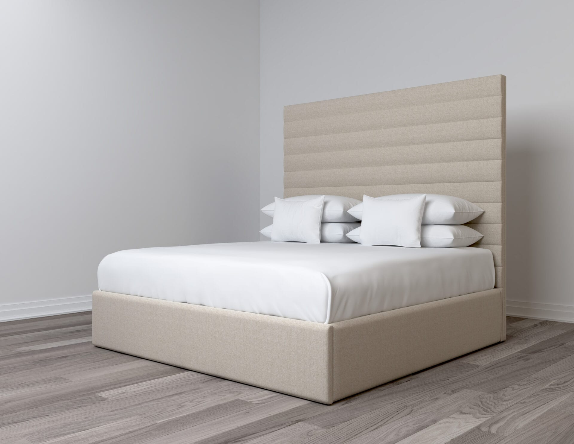 Ballard - Wall mounted upholstered, luxury headboard with custom upholstered wall panels - Custom luxury, upholstered beds with high end, bedroom textiles | Blend Home Furnishings