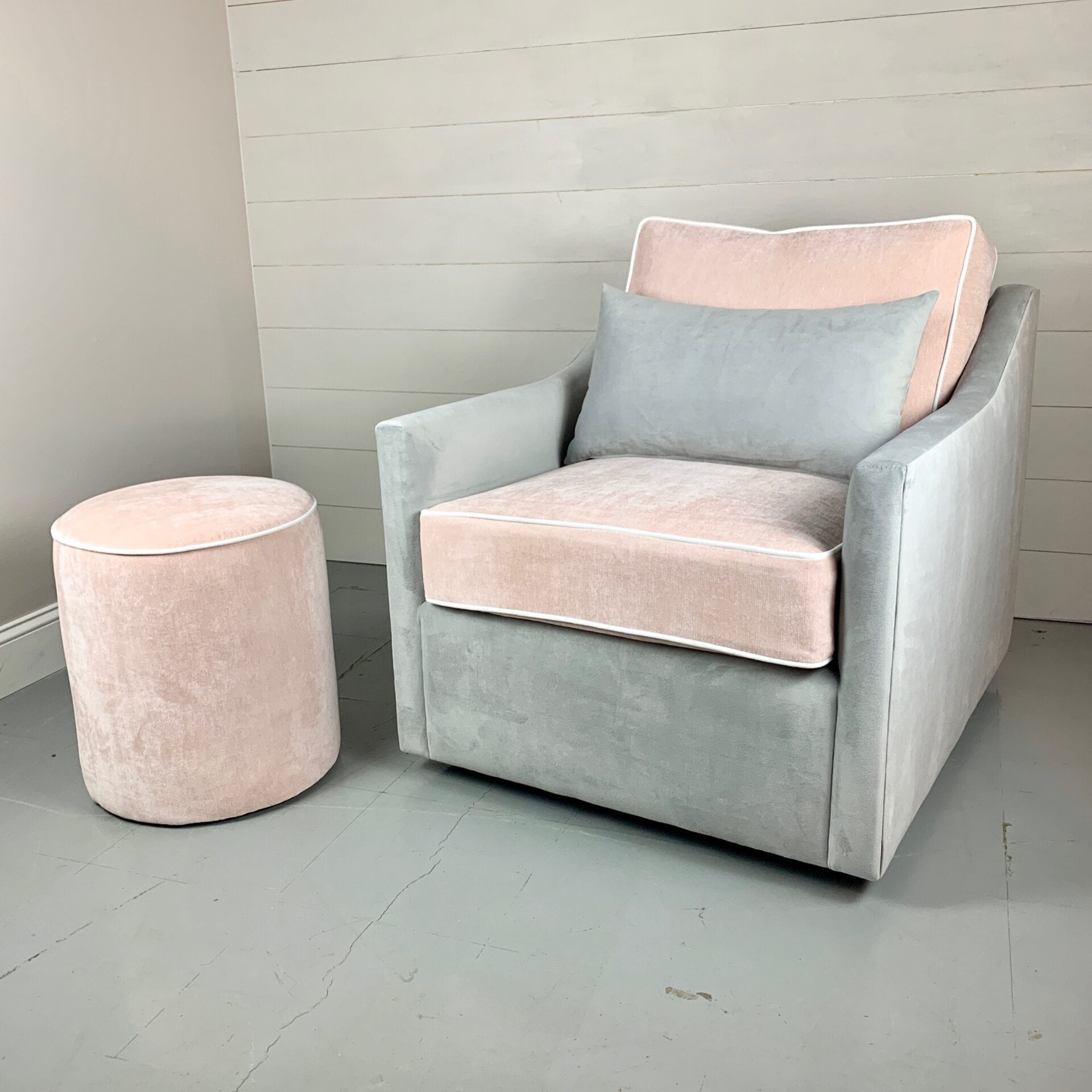 upholstered chairs and ottomans - Carla - Custom bedroom furniture with high end, bedroom textiles | Blend Home Furnishings