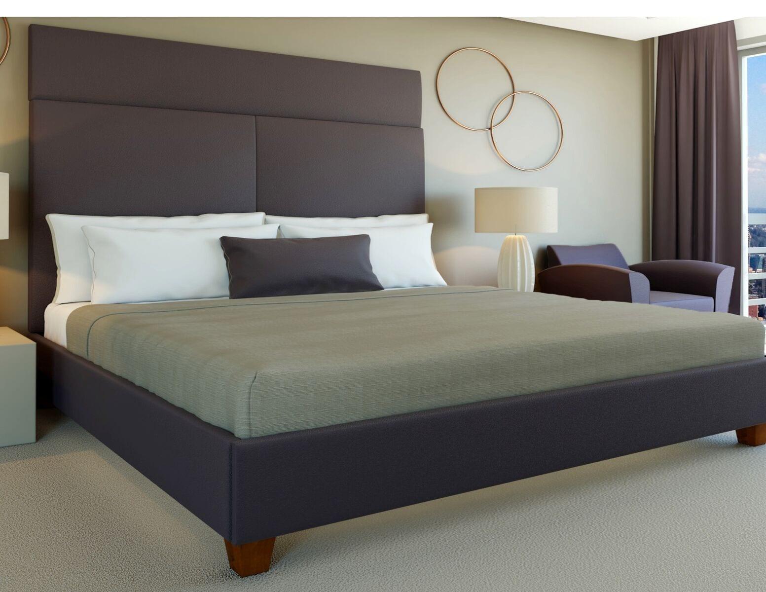 Casper - Wall mounted upholstered, luxury headboard with custom upholstered wall panels - Custom luxury, upholstered beds with high end, bedroom textiles | Blend Home Furnishings