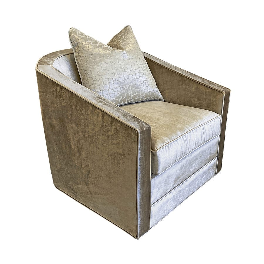Cora - upholstered chairs and ottomans - Custom bedroom furniture with high end, bedroom textiles   Blend Home Furnishings