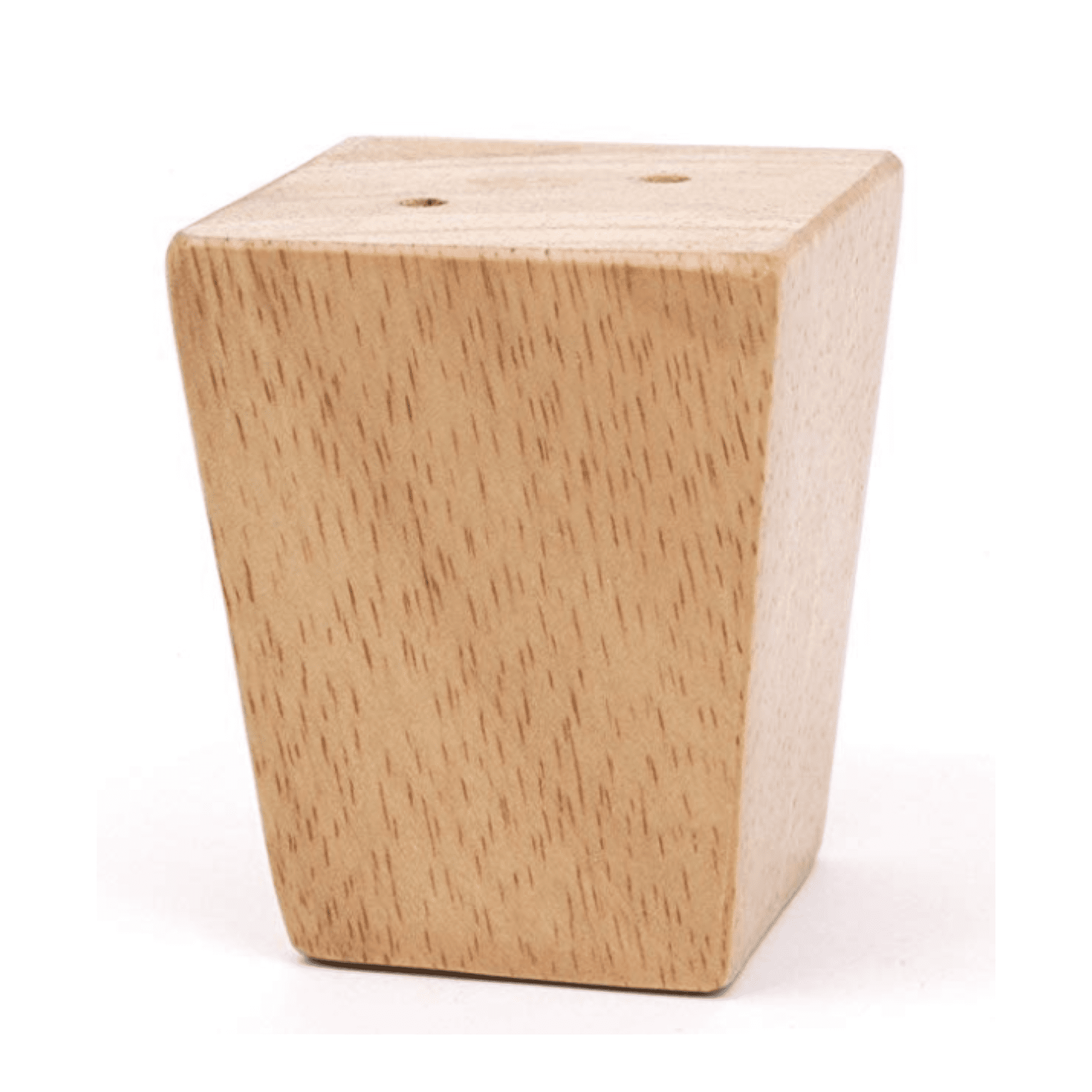 """Tapered Wood Leg. Comes in Cherry, Natural, White, Driftwood Grey, Weathered Oak, Dark Walnut, Rich Mahogany, Spanish Grey or Custom Finish to match. Dimensions: 4""""H"""