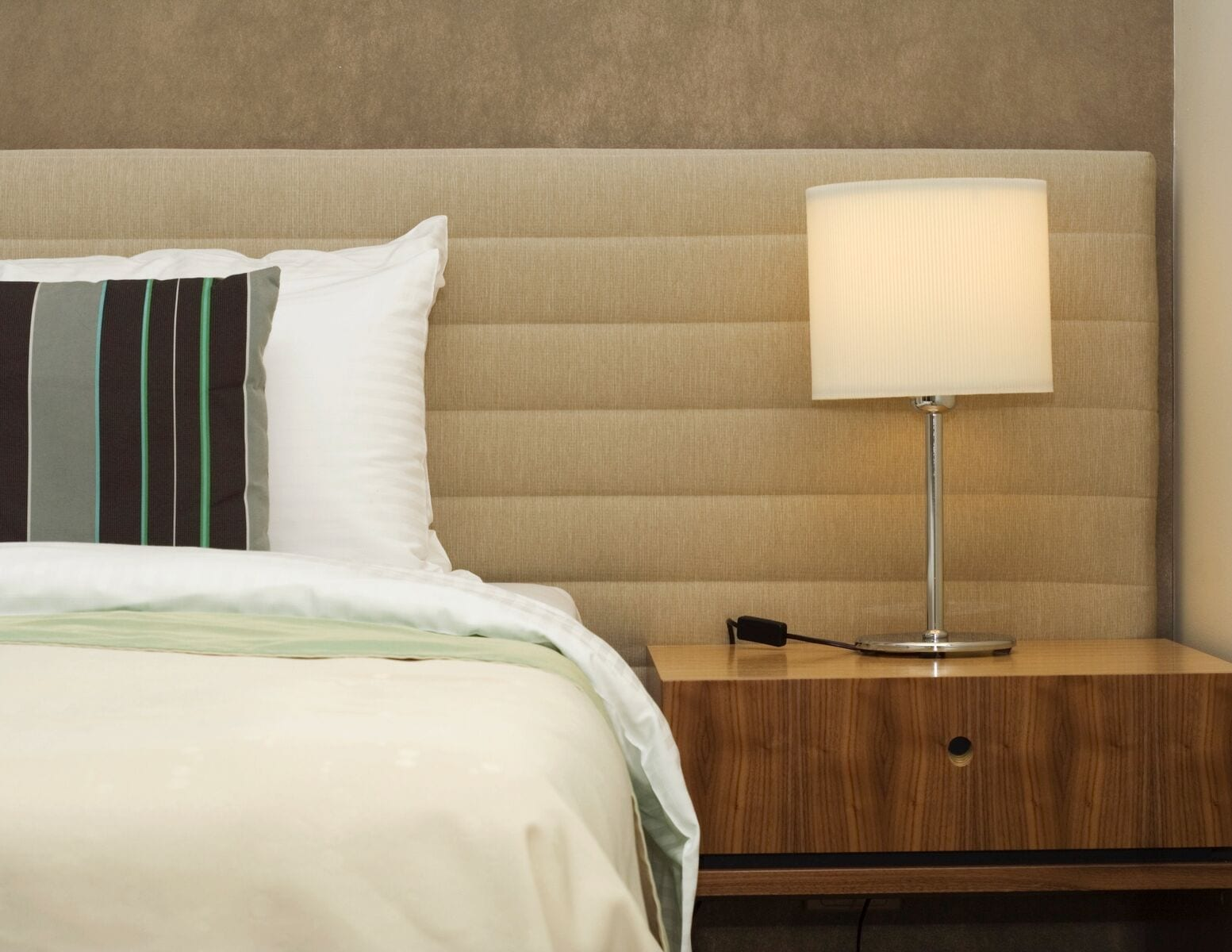 custom upholstered bed and luxury headboard