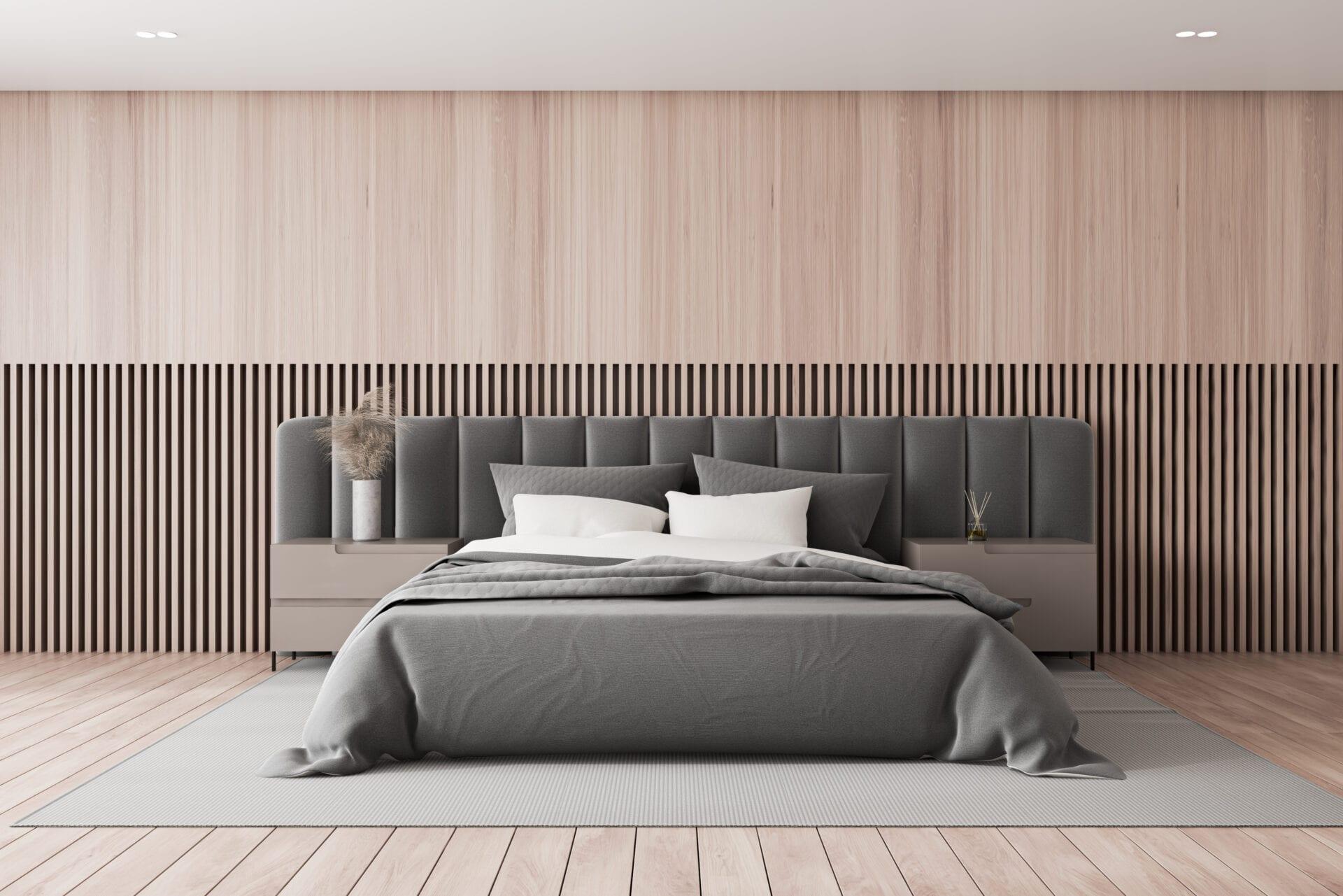 Custom Bedroom Furniture - Luxury Headboard with Upholstered Wall Panels | Blend Home Furnishings