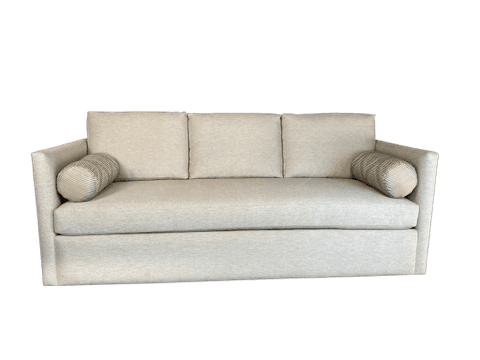 Milo Sofa Display, custom home furniture built to match your custom bedroom furniture and luxury headboard