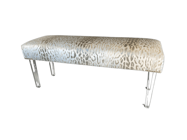 Luxita Bench Display - custom bedroom furniture - Upholstered Ottomans and Chairs - Blend Home Furnishings